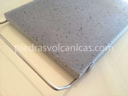 piedras volcanicas para asar IMG 6144 416x312 - Piedra Volcánica Natural para asar 30x25 2cm con soporte