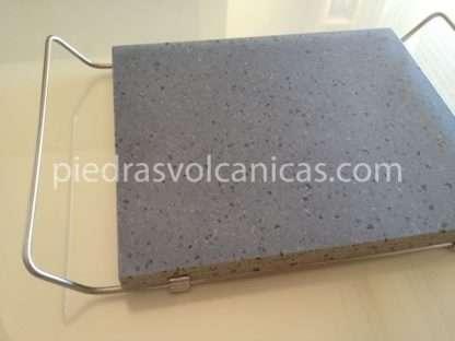 piedras volcanicas para asar IMG 6145 416x312 - Piedra Volcánica Natural para asar 30x25 2cm con soporte