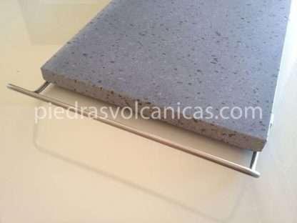 piedras volcanicas para asar IMG 6147 416x312 - Piedra Volcánica Natural para asar 30x25 2cm con soporte