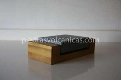 Piedra para cocinar a la piedra 12x10x3 con base de madera