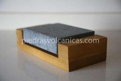 IMG 5721 416x277 - Piedra para cocinar a la piedra 12x10x3 con base madera