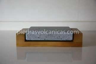 Piedra para cocinar a la piedra 16x12x3 con base de madera