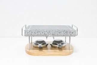 piedra para carne a la piedra 25x20x3 con soporte y quemadores IMG_0408