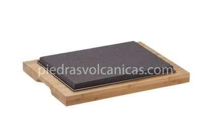 piedra carne a la piedra volcanica R1A140 1 416x277 - Piedra asar volcánica 36X20x3 base bambú